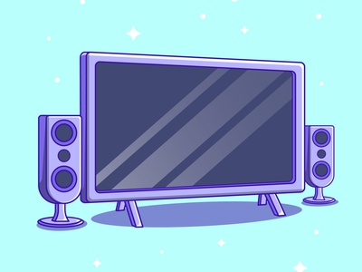 Modern Television LED Cartoon vector ui illustration graphic design design app animation 3d logo branding