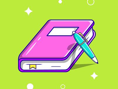 Book cartoon vector ui illustration graphic design design app animation 3d logo branding