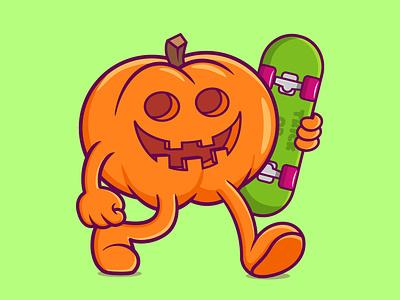PUMPKIN pumpkin cartoon character motion graphics branding vector illustration graphic design design animation logo