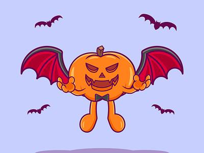 Halloween Pumpkin character cartoon pumpkin hallooween motion graphics branding vector illustration graphic design design animation logo