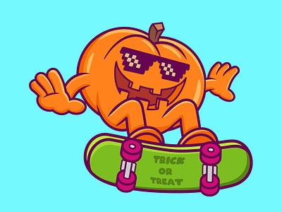 Pumpkin Cartoon motion graphics 3d ux ui branding vector illustration graphic design design animation logo