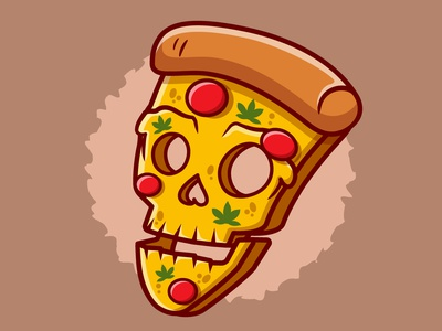 Pizza Halloween typography branding vector illustration graphic design design animation logo