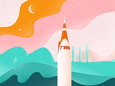 Rocket: Barkley tmoneydesign kansas city kc rocket design illustration tmoney