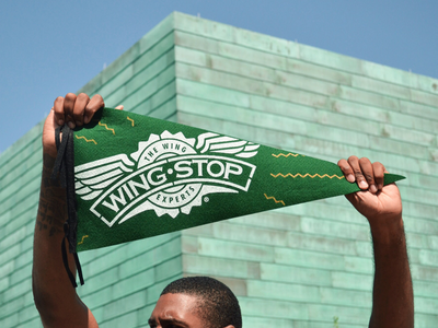 Wingstop - Wingday gold green social media national chicken wing day photography instagram design pennant chicken wingstop