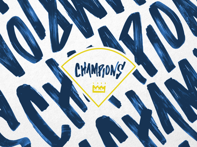 Because we could. lettering kansas city baseball world series take the crown tmoneydesign typography hand lettering royals champions kc