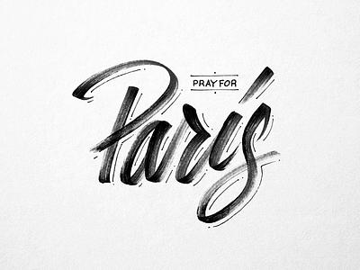 Pray for Paris prayer peace paris tmoneydesign typography lettering peace for paris pray for paris