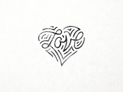 Love logo lettering script hand letter line tmoneydesign heart mono type typography love