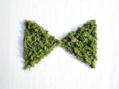 #KCDesignWeek triangle flag green moss bowtie kansas city kcdw design
