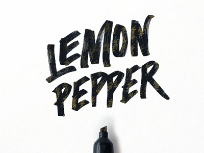Lemon Pepper  typography tmoneydesign lettering sharpie pepper lemon wingstop stop wing ws
