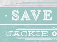 Save the Date | Jackie