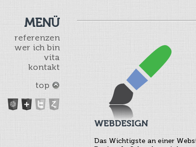 My Portfolio portfolio web webdesign grey bright website texture canvas menu museo