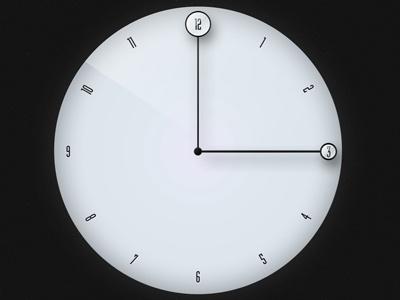Little Time - Clock clock ui design typeface app wip lens glass hands numbers