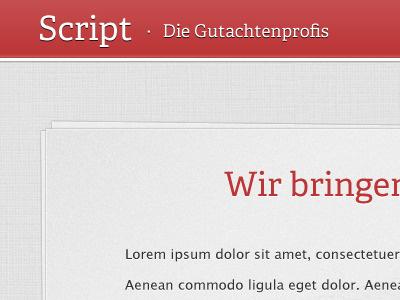 Reeeed! red website client work texture adelle html design paperstack paper navigation