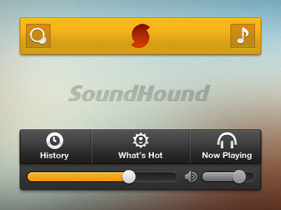 SoundHound ui gui ios icons sound audio player interface