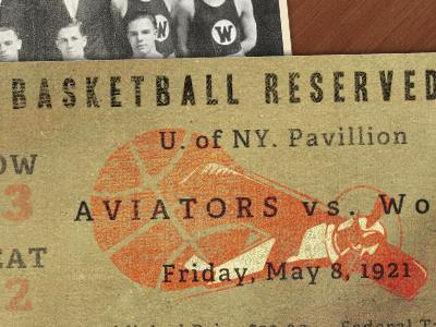 Aviators Ticket ticket playoff basketball sport logo grunge old