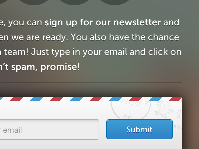 Aftermath form submit button theme launch under construction design website typo