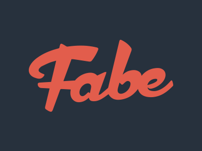 Fabe fabian schultz branding logo type logotype lettering brand mark typeface