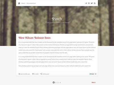 Pinch tumblr theme cherry not flat