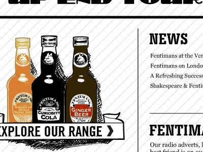 Fentimans - Bottles vector page design
