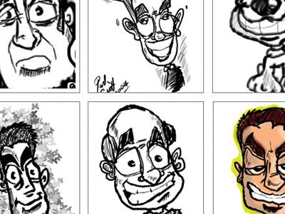 Lineup characters wacom sketch