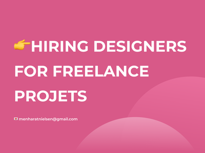 Hiring designers for freelance projects 3d motion graphics graphic design ui ux designers hiring