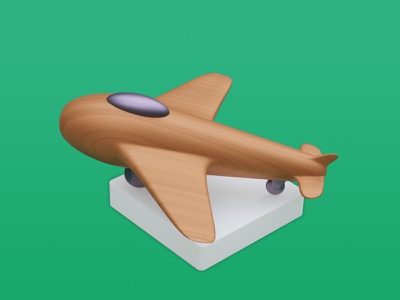 Wooden Plane - Icon Pack design png webflow graphic design icon blender figma motion graphics 3d ui