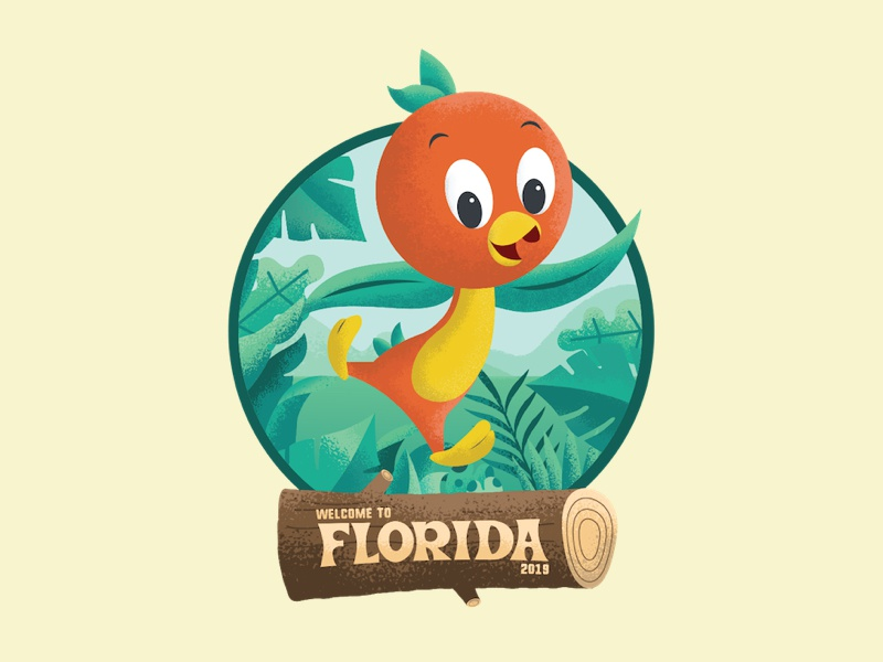 Welcome To Florida vector jungle log disney disney world florida orange bird