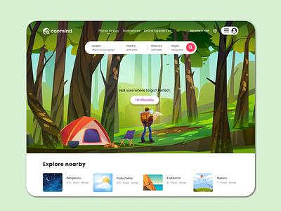 Room booking website UI design ux ui room booking website