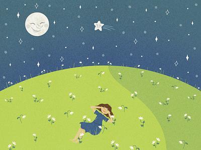 Friends With The Moon digital illustrator digital creator cute style digital design design illustration doodles digital illustration digital drawing cute illustrations cute illustration