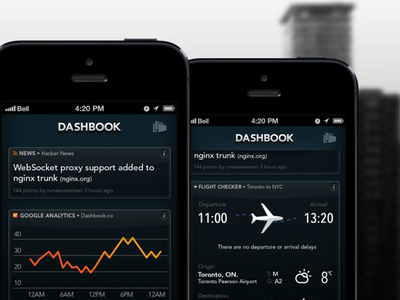Dashbook UI iphone ios ui interface dark black data analytics app