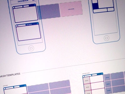 Dashbook Docs WIP ios iphone template wireframe