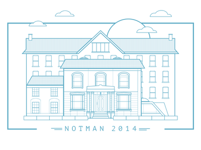 New Office - Notman House Montreal  illustration startups building office