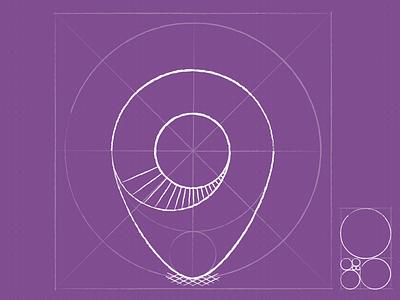 myHood location pin sketch icon app icon