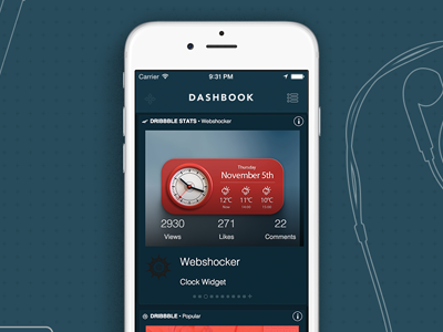 Dribbble Stats Dash stats dribbble iphone ipad app