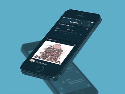 Dashbook App dark ui ios ui card ui