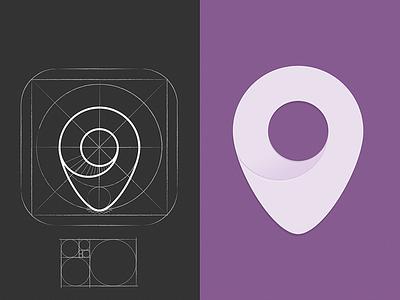 Gossip app icon ios pin location app icon