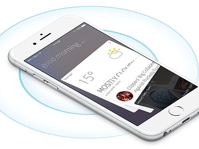 Relevant App news weather ios ui card ui