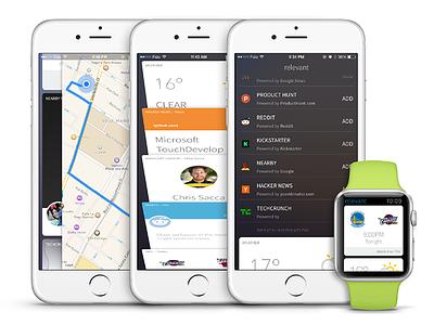 Relevant iOS App watch ux ui cards app ios