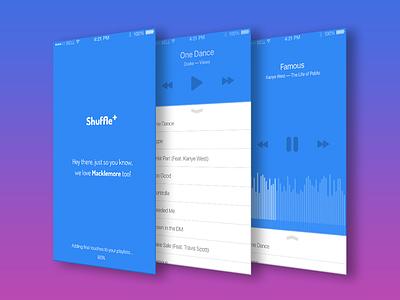 Shuffle Plus ui flat app music