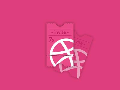 Dribbble Invite ticket invite dribbble