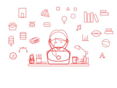 Little Boy/Girl — Sketches sketches hacker designer working girl boy hoodie illustration