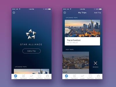 Star Alliance iOS App app travel ux ui