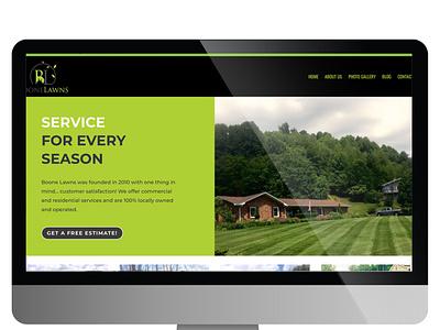 www.boonelawns.com ux ui website branding