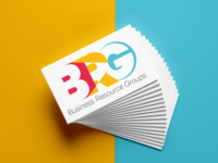 Brg logo business card mockup