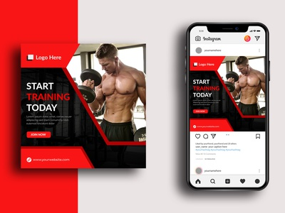 Professional Gym And Fitness Social Media Post Banner Design illustration ui graphic design professional gym social media post banner ads banner design instagram post social media banner design branding fitness business gym fitness gym banner gym instagram post gym facebook cover gym ads sports health body exercise