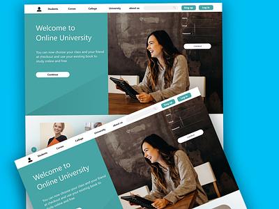 Online University logo design ux ui graphic design