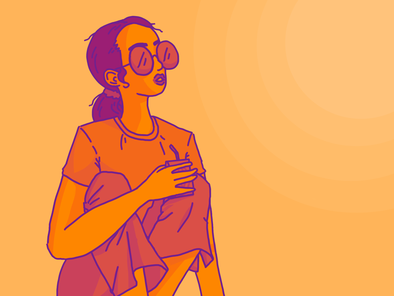 sunshine sunglasses sunshine illustration girl