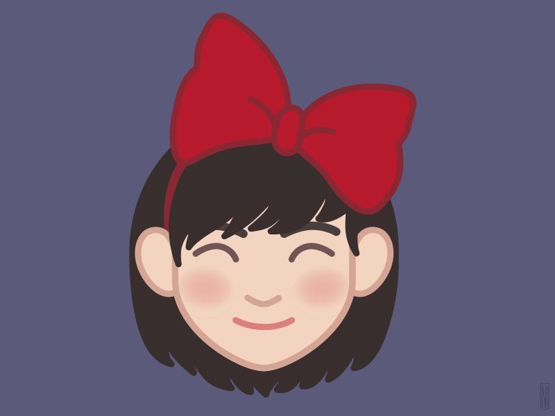 Kiki service delivery kiki miyazaki illustration face avatar anime