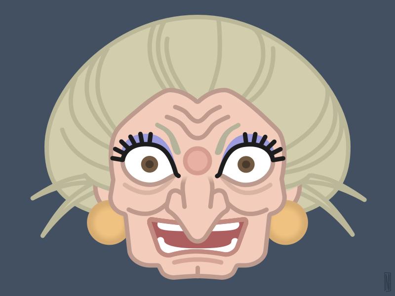 Yubaba avatar face illustration away spirited miyazaki yubaba