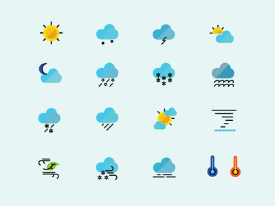 Meritage Homes Icon Set icons ui weather icon set iconography